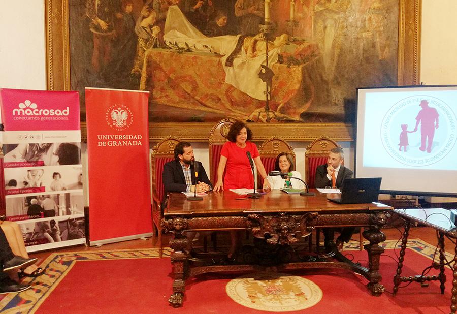De izquierda a derecha Andrés Rodríguez, Pilar Aranda, María José Sánchez Rubio y Mariano Sánchez