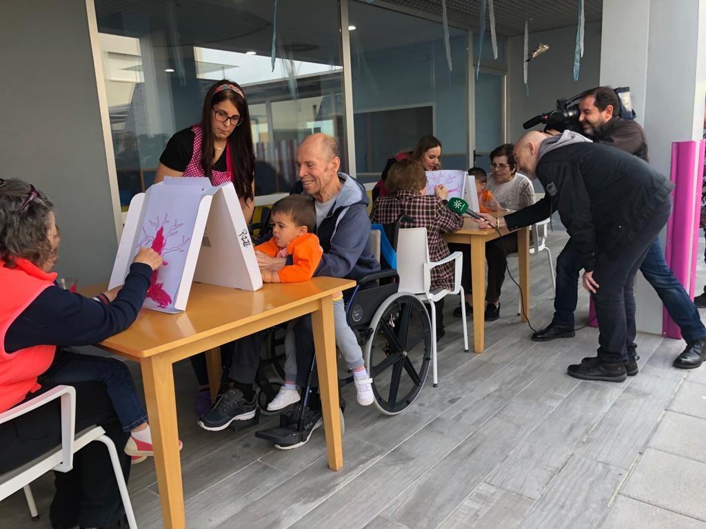 Una de las actividades organizadas en el Día Europeo de la Solidaridad Intergeneracional