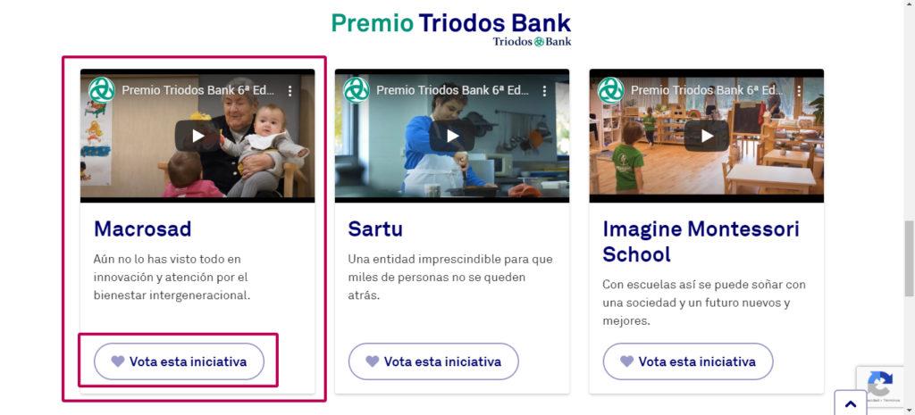 Premio Triodos Bank Macrosad